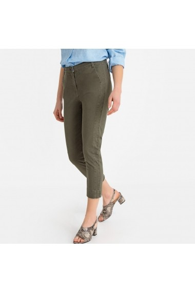 Pantaloni trei sferturi La Redoute Collections GFS131 kaki