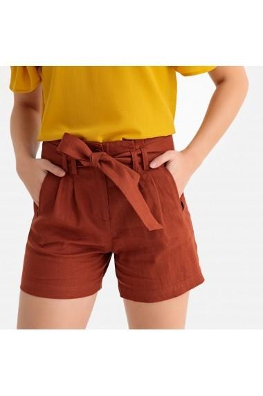 Pantaloni scurti La Redoute Collections GFX887 maro