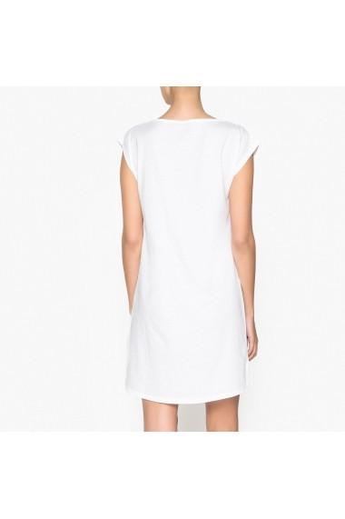 Camasa de noapte La Redoute Collections GET438-white-burgundy Alb