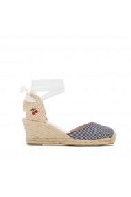 Sandale cu toc LE TEMPS DES CERISES GHV915 albastru