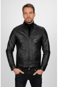 Jacheta din piele Paul Parker PA619639 Negru