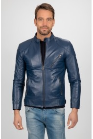 Jacheta din piele Paul Parker PA656483 Bleumarin