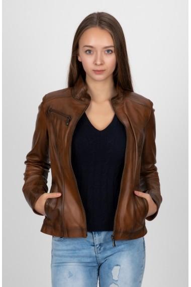 Jacheta din piele Paul Parker MAS-PA7744627-CHESTNUT Maro