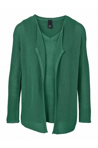 Set cardigan si top heine CASUAL 040457 verde