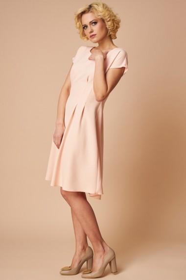 Rochie de Birou Eleganta Roz Pal