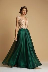 Rochie Lunga de Voal Couture Emerald