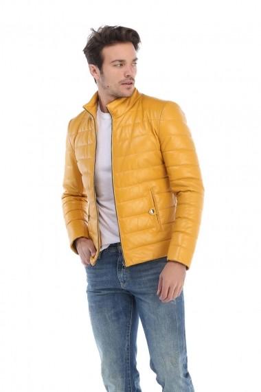 Jacheta din piele Giorgio di Mare GI8871947 Galben
