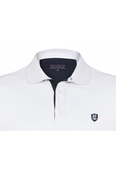 Tricou Polo FELIX HARDY FE3665538 Alb - els
