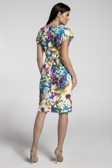 Rochie NAOKO GLB-AT180 PAINTED FLOWERS Multicolor
