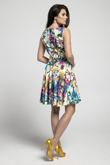 Rochie NAOKO GLB-AT197 PAINTED FLOWERS Multicolor