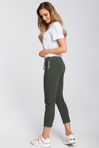 Pantaloni drepti Made of Emotion M411 Kaki