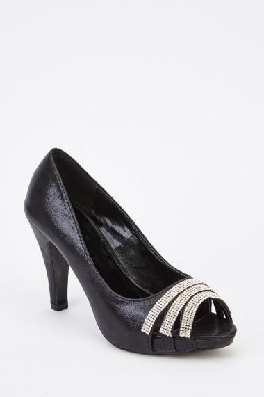 Pantofi cu toc 630169-247622 Negru