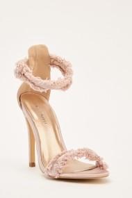 Sandale cu toc 640704-268300 Roz