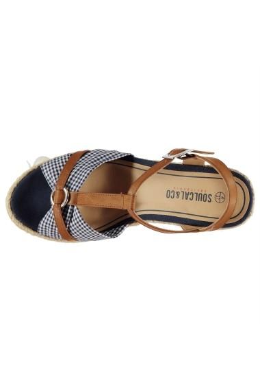 Sandale cu toc SoulCal 23137618 Maro