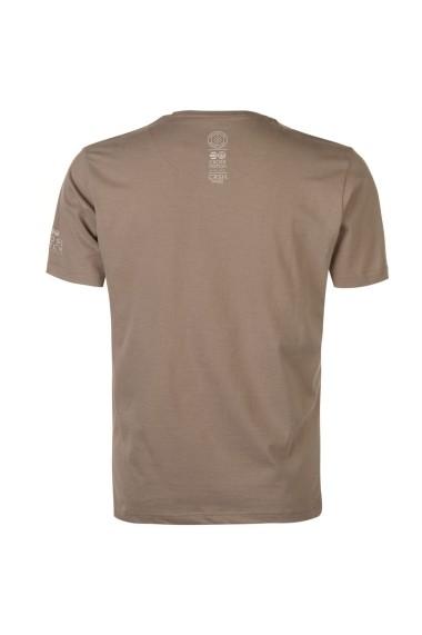Tricou Crosshatch 59947188 Gri-bej