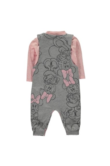 Set salopeta si bluza Disney 56023791 Gri