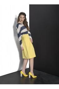 Fusta Couture de Marie din tafta galbena cu pliuri Sunny