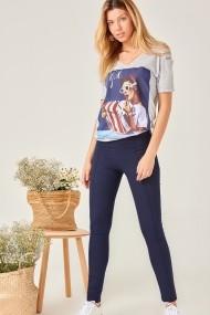 Панталон скини Boutiquen 10057-NAVY_BLUE тъмносиньо