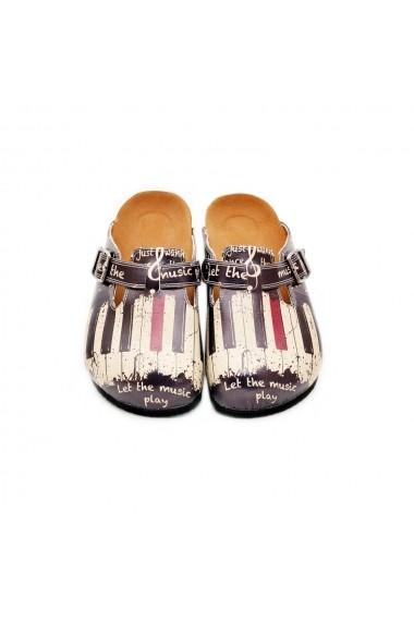 Papuci CALCEO CAL311 Multicolor