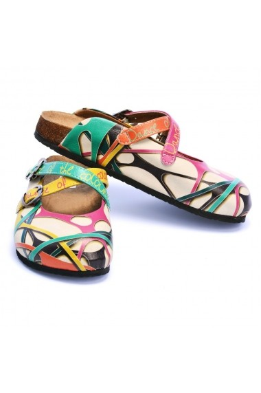 Papuci CALCEO CAL108 Multicolor