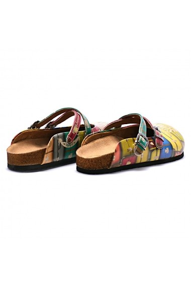 Papuci CALCEO CAL106 Multicolor