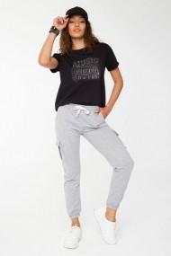 Pantaloni sport New Now 19Y587107 Gri