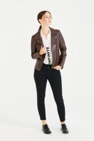 Jacheta din piele Deri Company BD00007 Bordo