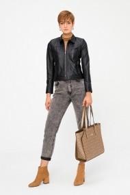 Jacheta din piele Deri Company BD00659 Neagra