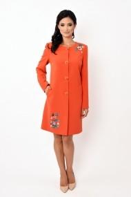 Pardesiu stofa Lille Couture Maria portocaliu