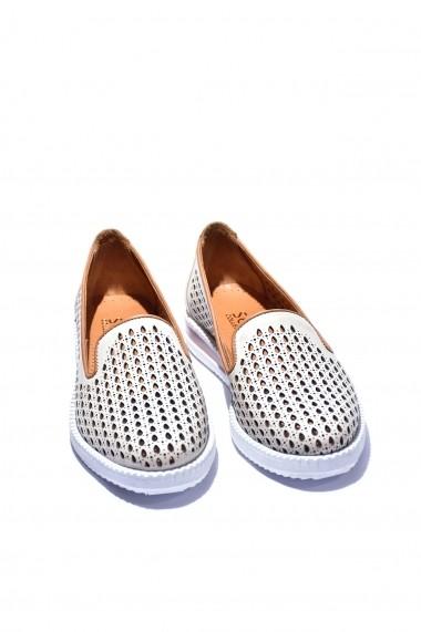 Pantofi piele naturala Torino 180 crem