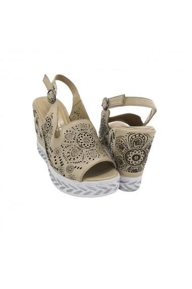 Sandale piele naturala Torino 551-11 bej