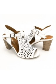 Sandale piele naturala Torino 314 albe