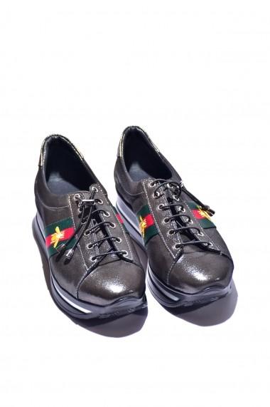 Pantofi piele naturala Torino 2009 negru sidef