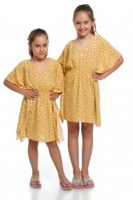 Rochita de plaja gen poncho Dress To Impress galbena