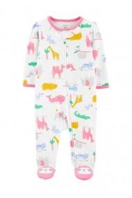 Pijama Carters cu fermoar reversibil bebe Safari