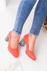 Pantofi cu toc Awon 71005ORJ Portocaliu