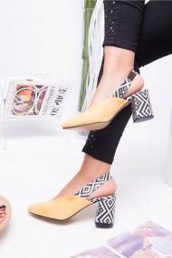Pantofi cu toc Awon 5219LMS Galben