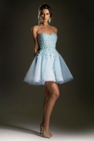 Rochie de seara Andrea Leo Couture A5085 Bleu