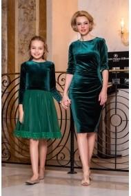 Set rochii mama-fiica FamilyFashion Katy&Katia Verde