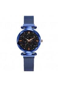 Ceas GENEVA CS1187 Starry Sky bratara magnetica elegant albastru