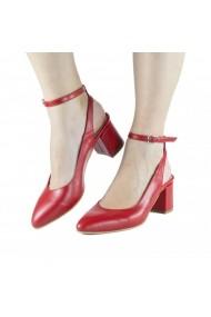 Pantofi pumps slingback Donna Mia Rosu