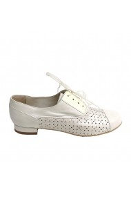 Pantofi oxford Veronesse piele perforata alb