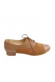 Pantofi oxford Veronesse piele naturala camel
