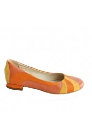 Balerini Veronesse piele naturala portocaliu