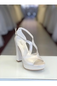 Sandale cu platforma si barete Moda Aliss SD014 Alb