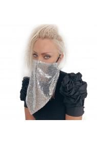 Masca – Esarfa argintie cu paiete