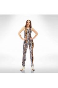 Pantaloni skinny cu imprimeu piele de sarpe