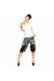 Pantaloni bufanti cu imprimeuri geometrice