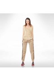 Pantaloni maro din tafta