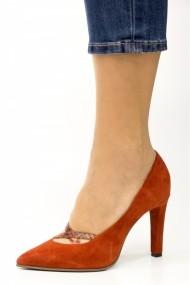 Pantofi cu toc Thea Visconti 405-18-948 Caramiziu